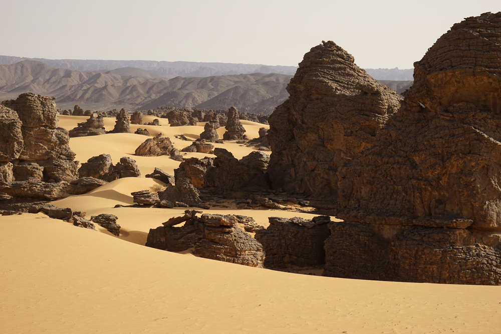 Paysage du piémont sud de la Tasili-n-Ajjer
