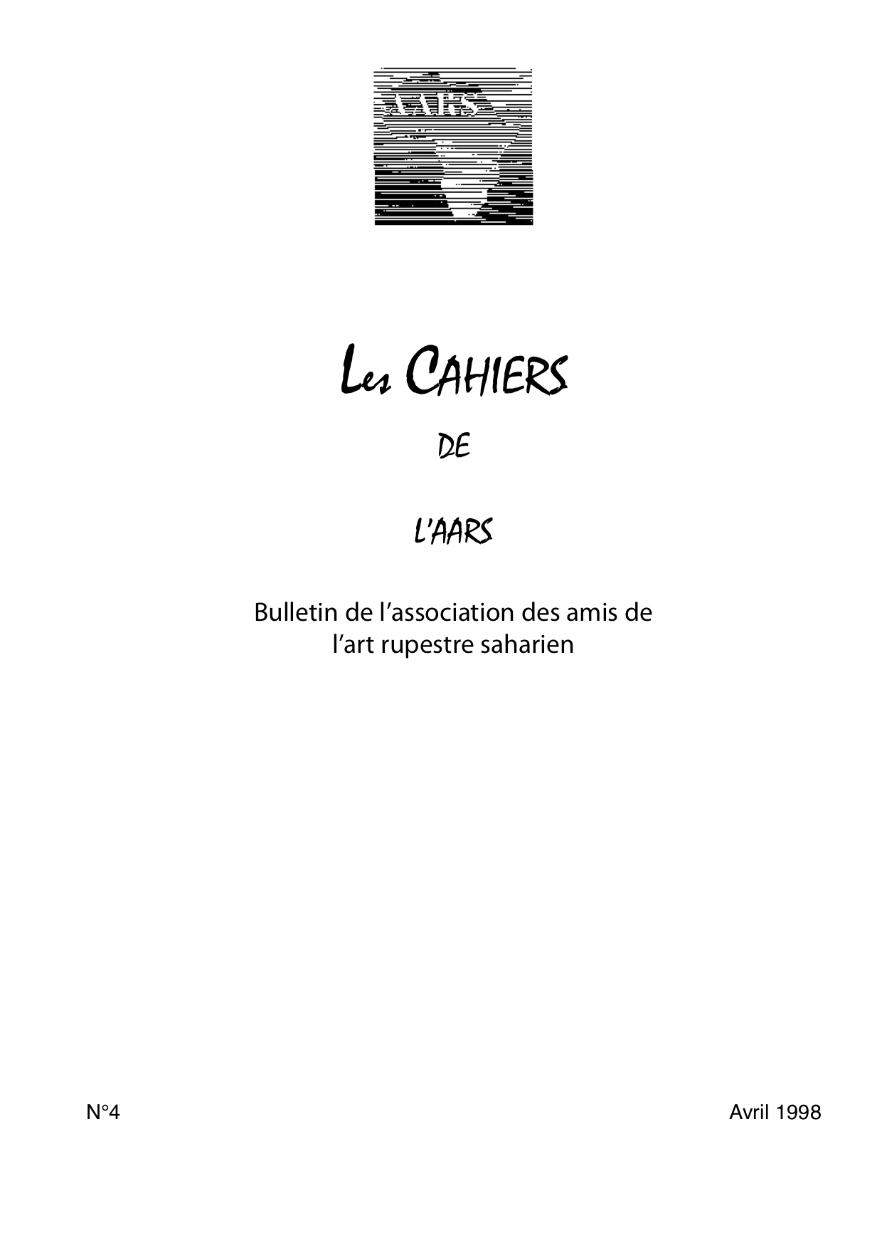 You are currently viewing Les Cahiers n°04 – 1998