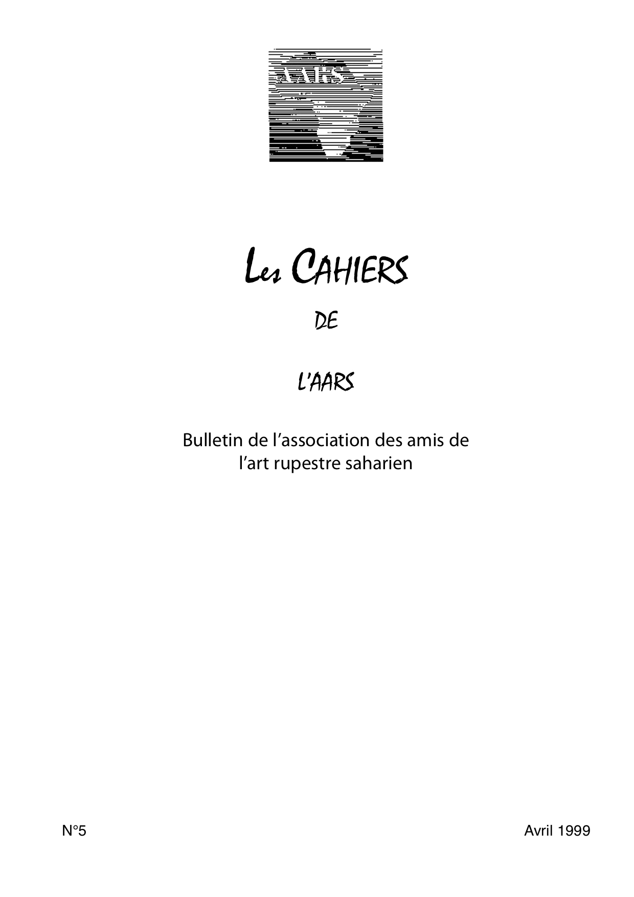 You are currently viewing Les Cahiers  n° 05 – 1999