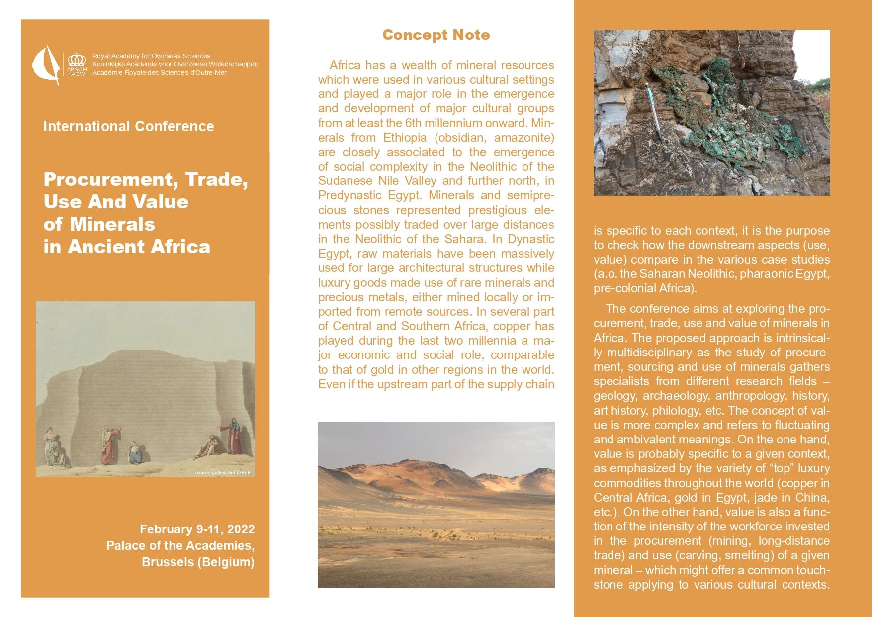 Read more about the article AARS Info n°956-Colloque sur l'approvisionnement des minéraux en Afrique ancienne