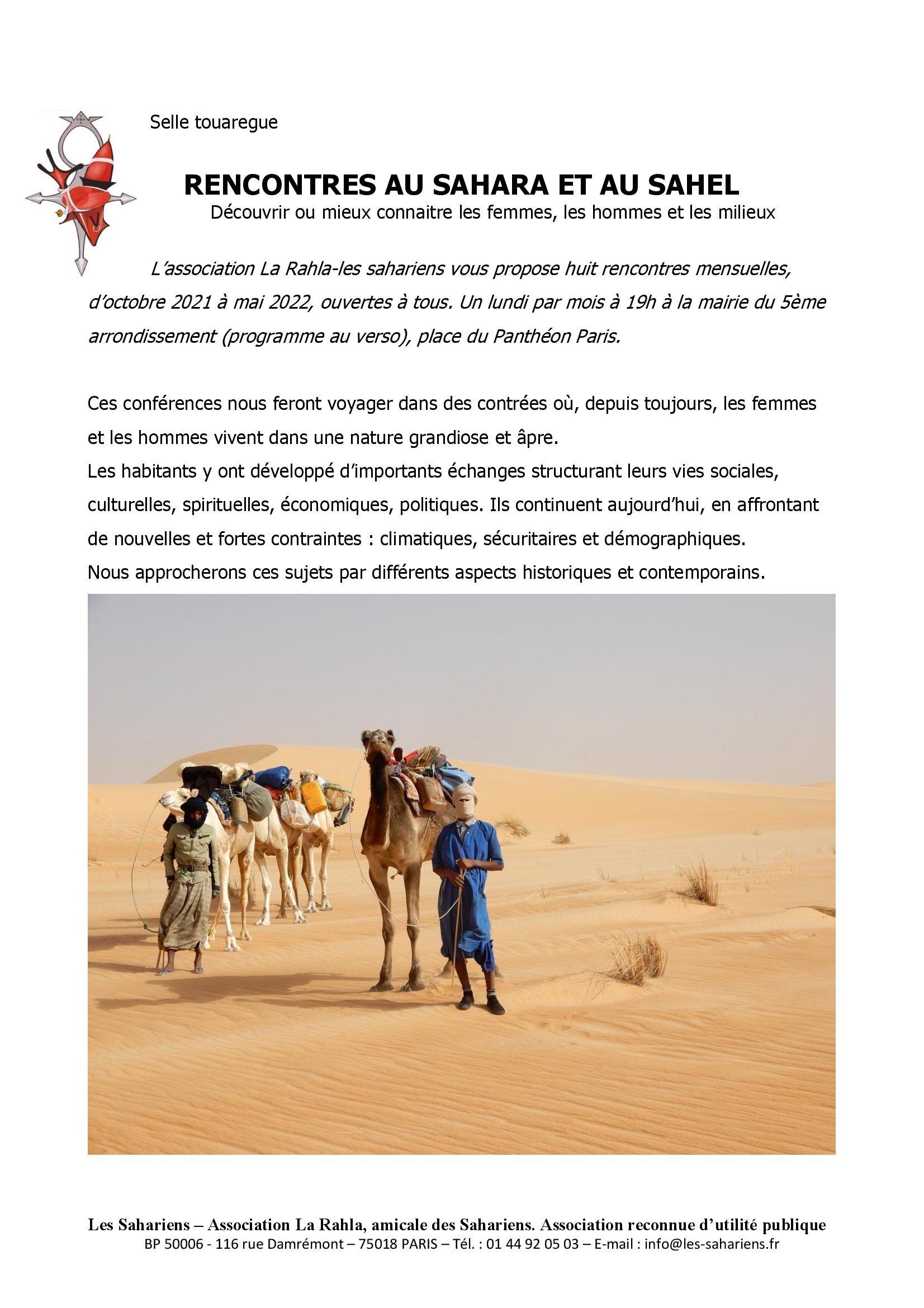 Read more about the article AARS Info n°958-Les conférences de la Rahla